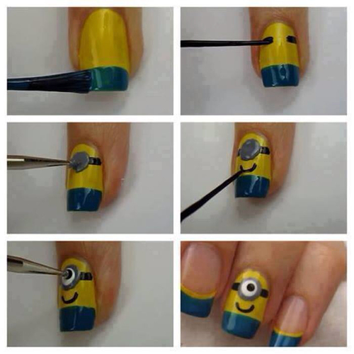 Diy minion nails pictures photos and images for facebook tumblr diy minion nails solutioingenieria Choice Image