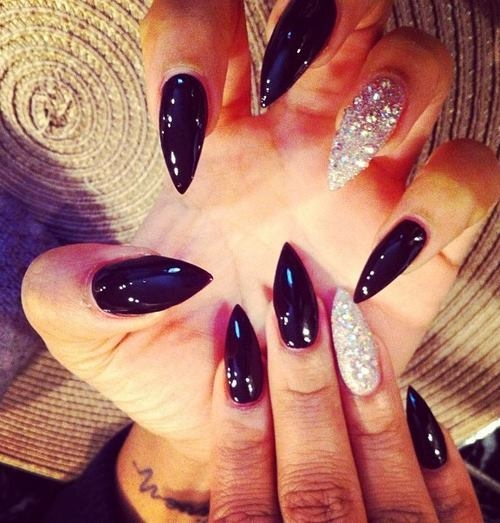 Black And Silver Stiletto Nails Pictures, Photos, and Images for ...