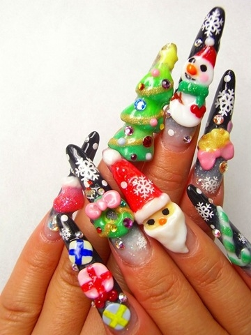 Christmas Stiletto Nails Pictures, Photos, and Images for Facebook ...