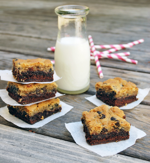 Chocolate Chip Cookie Topped Brownies Pictures, Photos, and Images for ...
