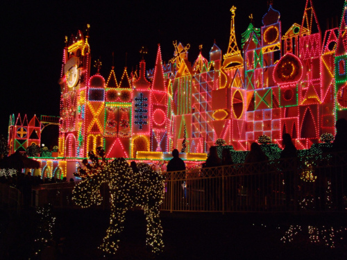 Its a small world christmas lights from Disneyland
