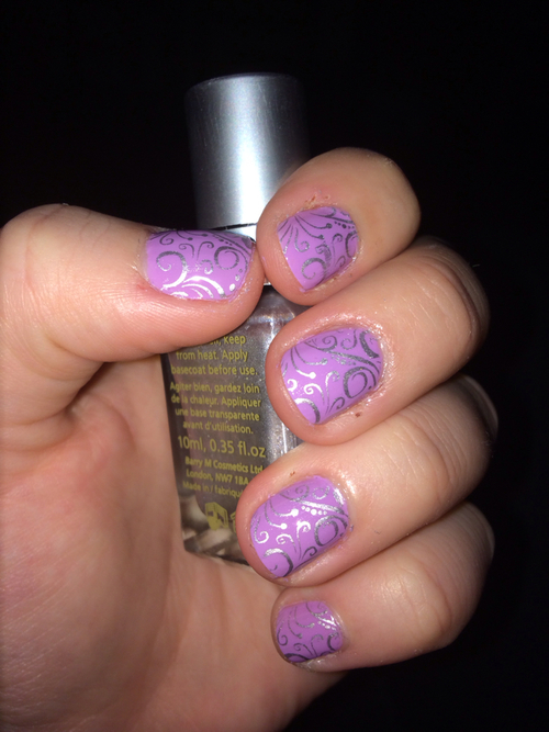 Lilac And Silver Nail Art Pictures Photos And Images For Facebook Tumblr Pinterest And Twitter