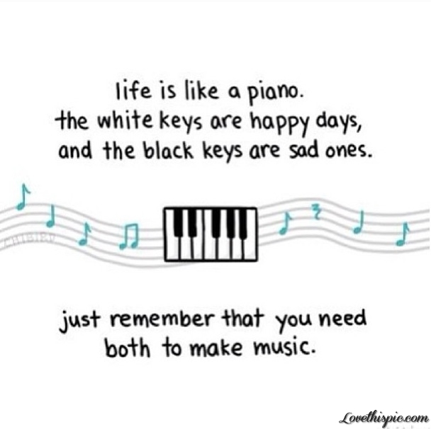 Cute Simple Quotes About Life: Life Is Like A Piano Pictures, Photos, And Images For