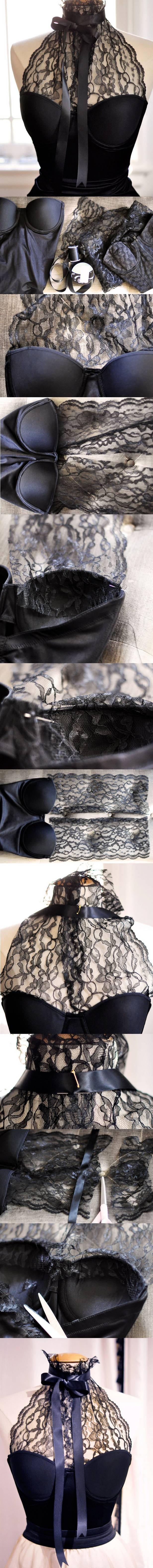 DIY LACE HALTER BUSTIER Pictures, Photos, and Images for Facebook