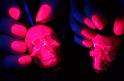 Neon Pink Glow In The Dark Nails Pictures, Photos, and