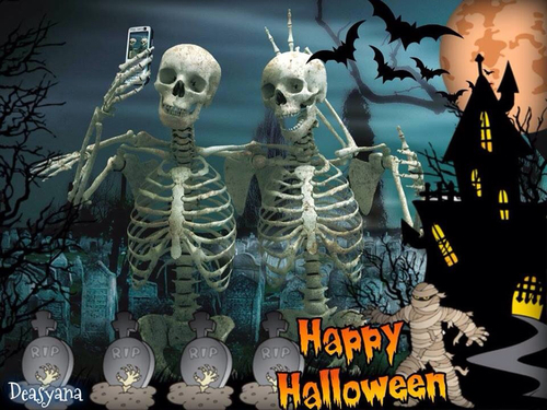 Happy halloween skeleton pictures