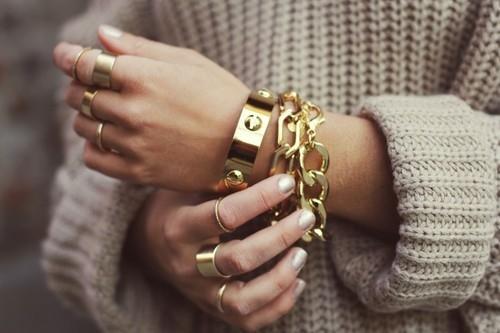 Chunky Gold Bracelets