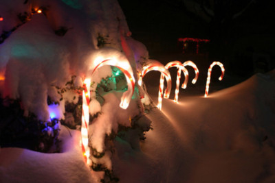 Candy Cane Outdoor Lights