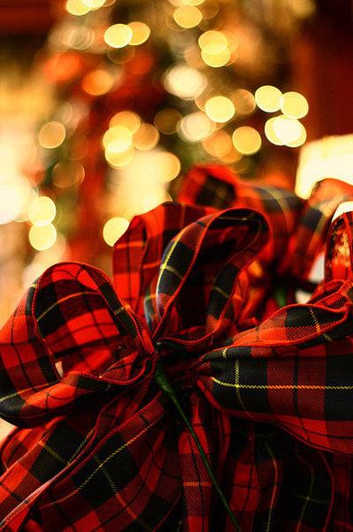 plaid ribbon - Plaid Christmas Ribbon
