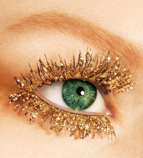 Golden shimmer eye lashes pictures photos and images for for Craft eyes with lashes