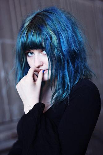 Girl With Blue Hair Tumblr