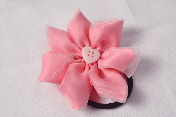 Diy fabric and felt flower brooches pictures photos and images for pink ribbon flower hair ties mightylinksfo