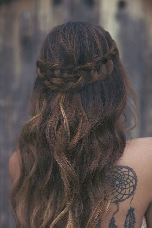 Long Wavy Hair And Braid Pictures, Photos, and Images for ... Hair Tumblr Braid