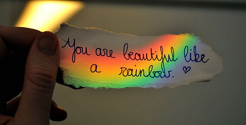 you are beautiful like a rainbow pictures photos and