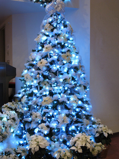 blue snow christmas tree - Snow Christmas Tree