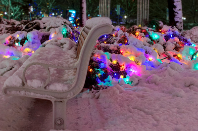 Led snow christmas lights pictures photos and images for