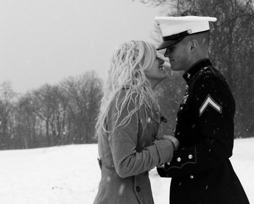 Military snow couple