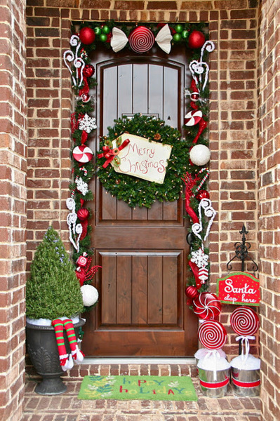 Christmas Door Decorations Pictures Photos And Images