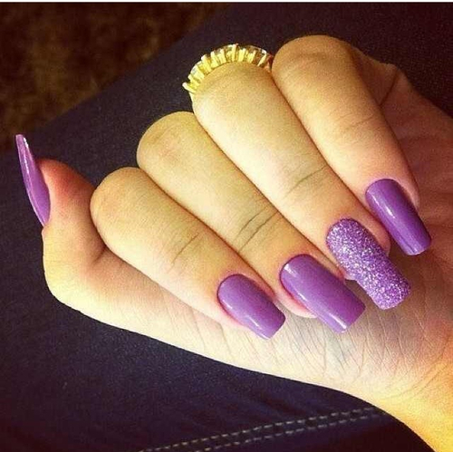 Long Purple Nails Pictures, Photos, and Images for Facebook, Tumblr ...