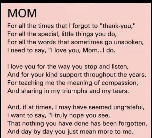 Image Result For Mom Love Quotes