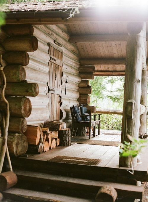 Build This Cozy Cabin Cozy Cabin Magazine Do It Yourself: Cozy Country Porch Pictures, Photos, And Images For