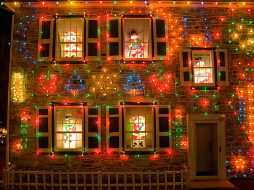 Christmas Decorated House Pictures Photos And Images For