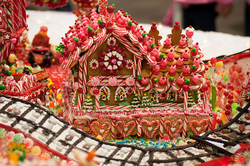 Christmas candy gingerbread house pictures photos and images for