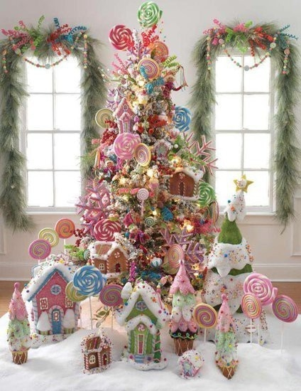 Cute Candy Decorated Christmas Tree