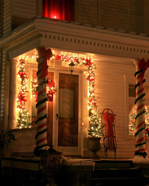 Christmas Porch Decorations Pictures, Photos, And Images