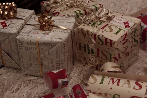 Christmas gift boxes food