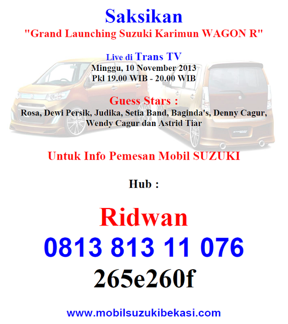 Grand Launching Karimun Wagon R