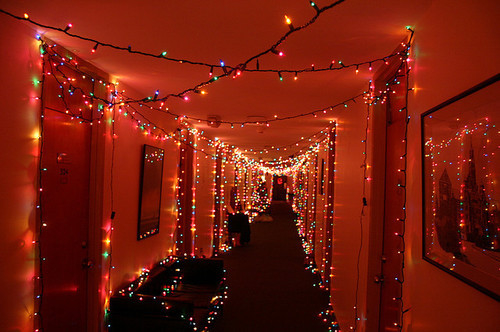 christmas hallway lights pictures photos and images for facebook tumblr pinterest and twitter. Black Bedroom Furniture Sets. Home Design Ideas