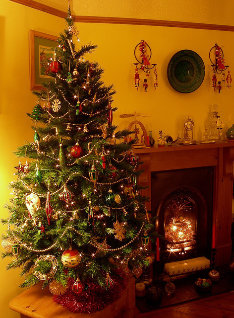 Christmas Tree By The Fireplace Pictures Photos And Images For