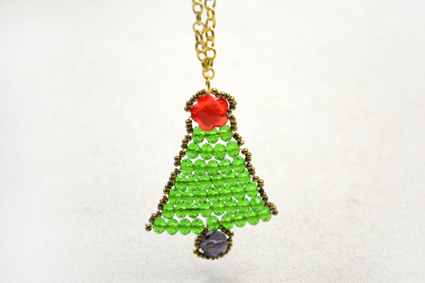 Beaded Christmas tree Pendant Ornament