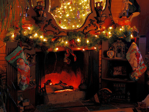 Fireplace Christmas Decorations Pictures Photos And