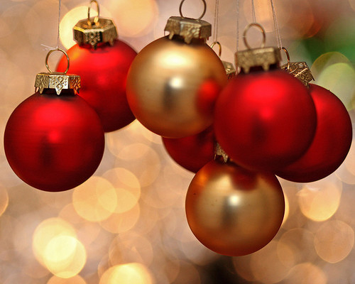 Christmas Ornaments Red And Gold : Gold and red ornaments pictures photos images for