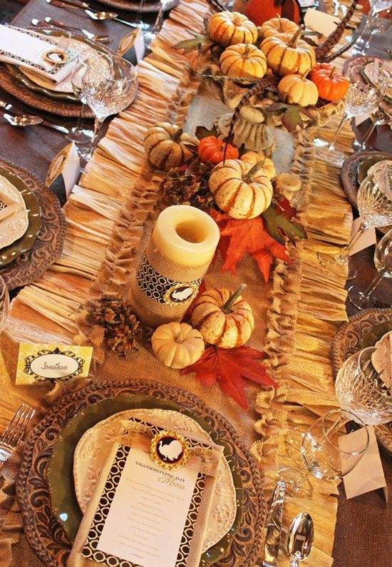 Beautiful Thanksgiving Tablescape Pictures Photos And