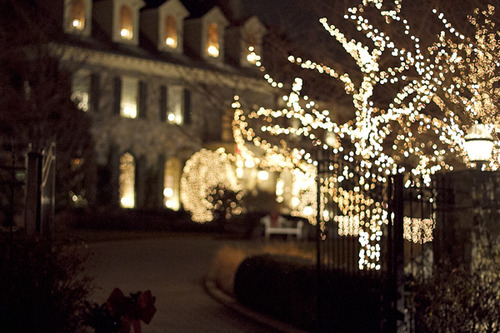 Lights Outside Christmas House Pictures Photos And