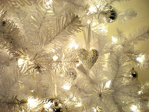White Decorated Christmas Lights And Ornaments Pictures, Photos ...