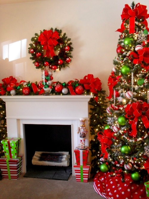 Christmas Decoration In The Living Room Pictures Photos