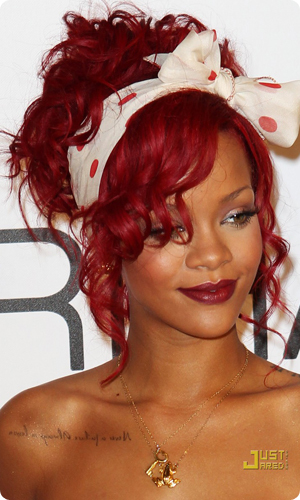 red hair rihanna pictures photos and images for facebook. Black Bedroom Furniture Sets. Home Design Ideas