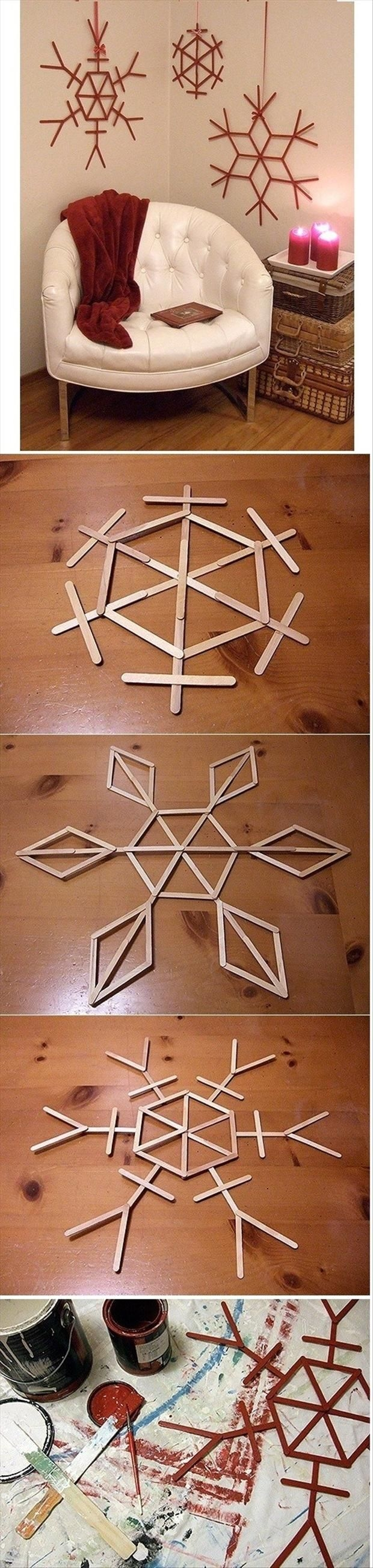 Christmas Craft Ideas With Popsicle Stick : Diy snowflake decor pictures photos and images for