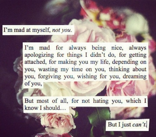 Quotes About Love Not Being Enough : Im Mad At Myself Pictures, Photos, and Images for Facebook, Tumblr ...