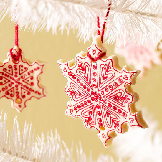 Salt Dough Cookie Snowflake Ornaments Pictures, Photos