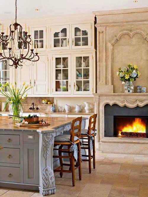 Beautiful Kitchen With Fireplace