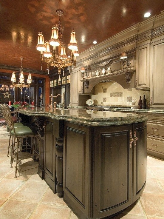 Kitchen with rich earth tones pictures photos and images for Gourmet kitchen design