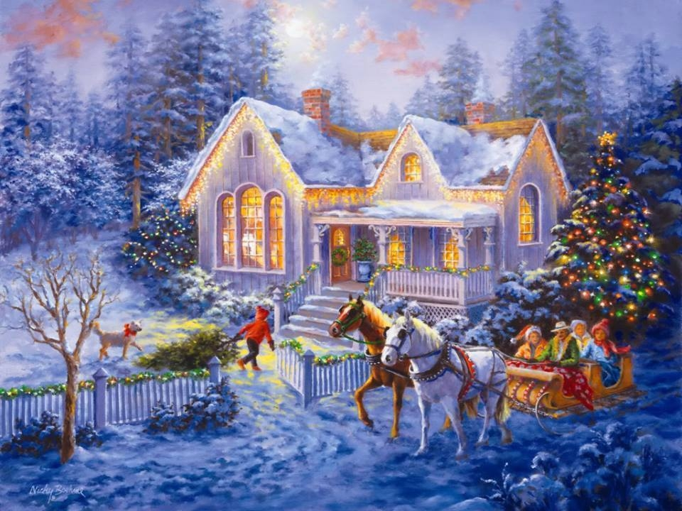 Beautiful Christmas Illustration Pictures, Photos, and Images for ...