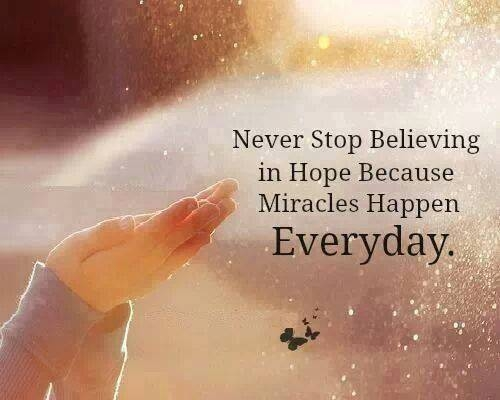 never stop believing in hope pictures photos and images