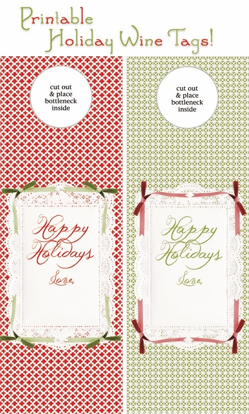 printable holiday wine tags pictures photos and images for facebook tumblr pinterest and. Black Bedroom Furniture Sets. Home Design Ideas