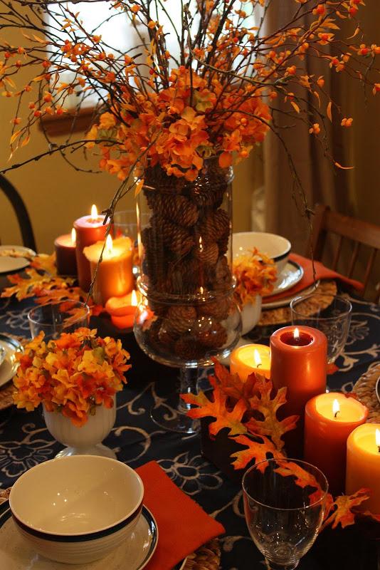 thanksgiving table decor - Thanksgiving Table Decorations
